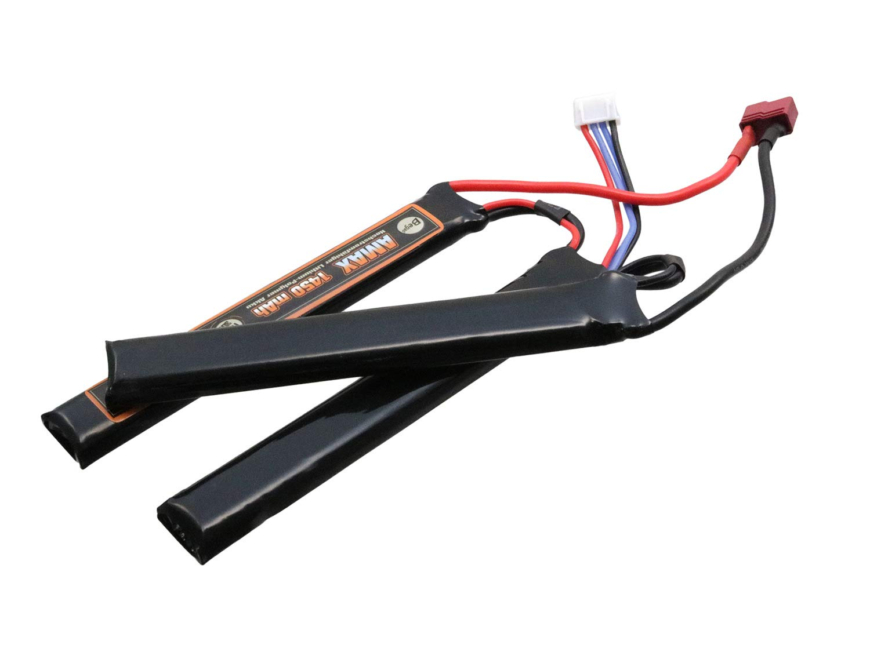 orange BEGADI AMAX LiPo Akku 11,1V 1450mAh 30C Triple Stick mit Dean 116 x 16 x 24,2mm