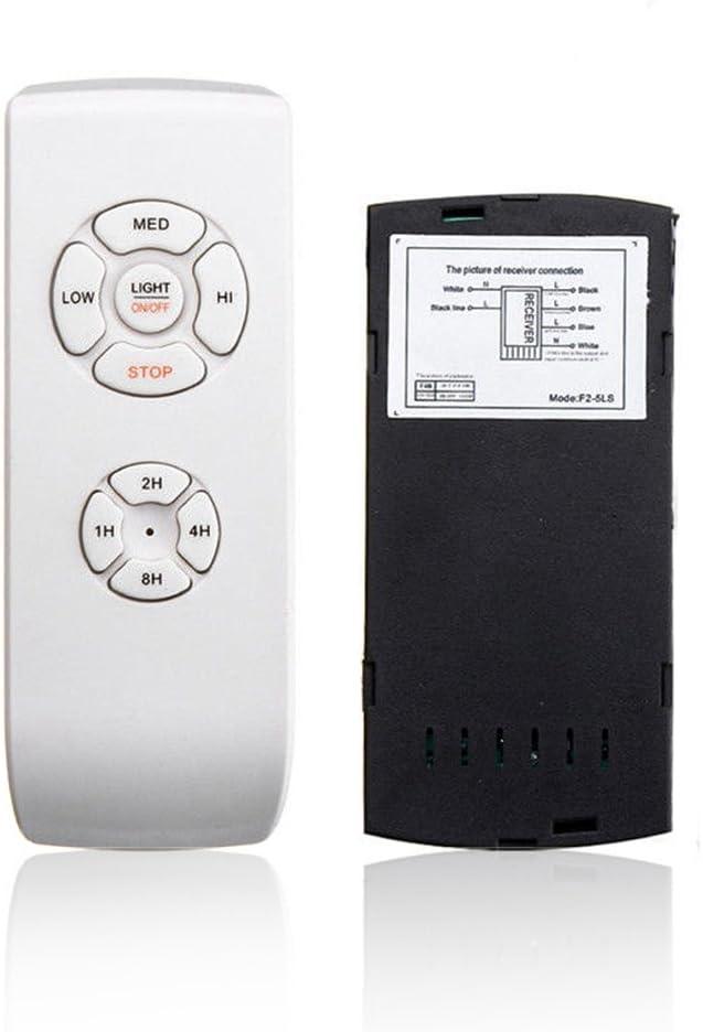 Cicony - Kit de mando a distancia para ventilador de Techo, mando a distancia de velocidad de sincronización de luz del ventilador de 110 V 220 V, blanco, talla abierta