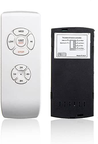 Kit de mando a distancia y receptor universal para ventilador de ...