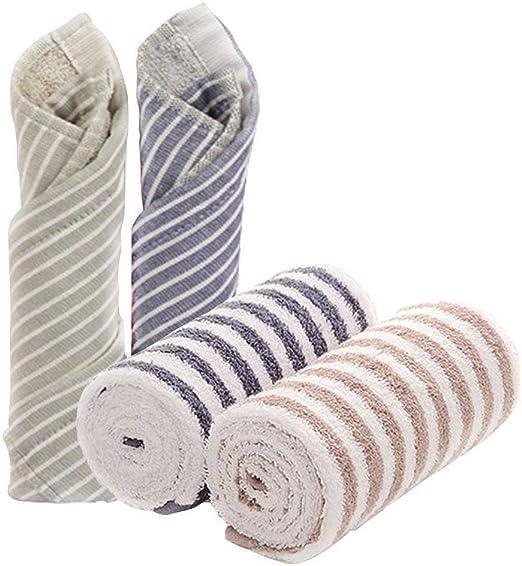 CHRISLZ 2 PCS de algodón toallas de rayas toalla de mano de tela ...
