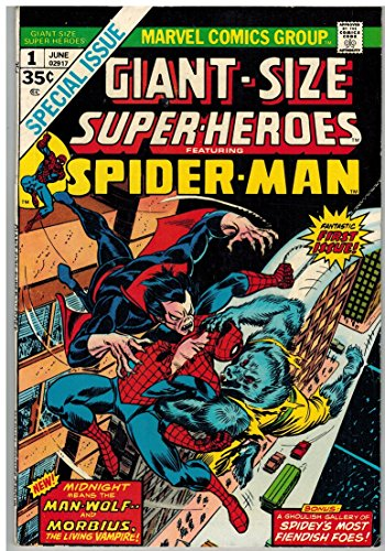 GIANT SIZE SUPER HEROES 1 VG-F June 1974 SPIDERMAN