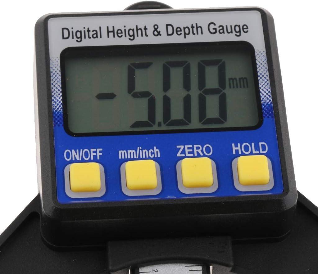 FLAMEER 0-80 Mm Mini Indicador de Altura Digital para Mediciones Precisas de Altura y Profundidad