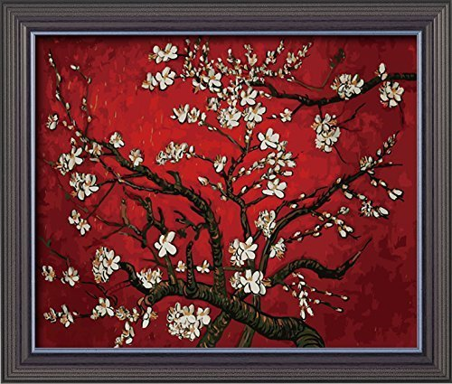 Blossoms Charming (Diy painting, paint by number kit for Adults Beginner-Charming Autumn 1620 inches (Apricot Blossom-red by Van Gogh))