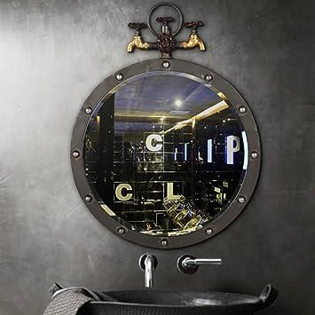 QBDS Loft Industrial Style Bar Schmiedeeisen Wasserhahn Modell Wand Dekoration  Spiegel, Retro Wohnzimmer Badezimmer Cafe