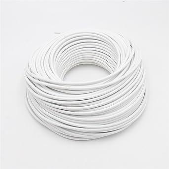 reachyea Vintage Anhänger Licht Electrical Wire (3 x 0,75 mm²), weiß ...