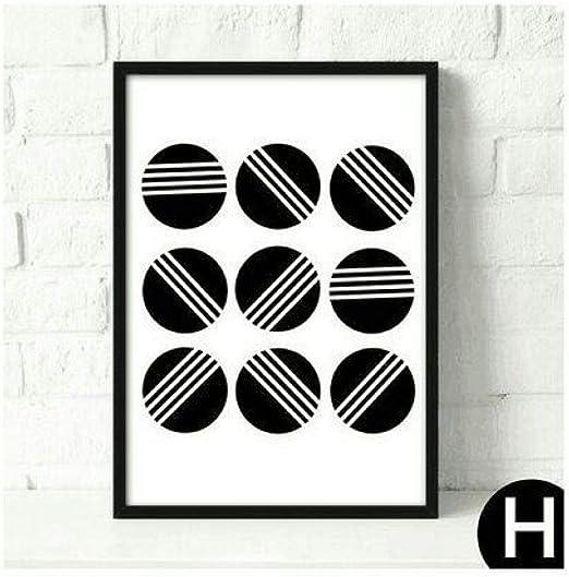 jzxjzx Pintura al óleo sin Marco geométrica Abstracta en Blanco y ...