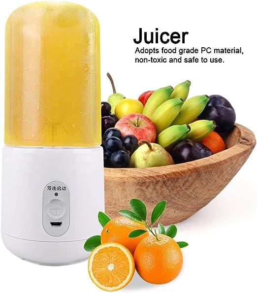 Licuadora Portátil 260ML Mini Mezclador de Frutas USB Recargable ...