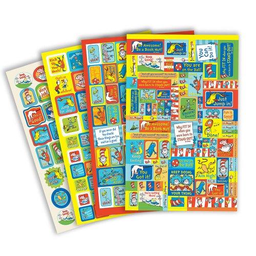 Eureka Dr. Seuss Motivational School Stickers for Teachers and Students, -