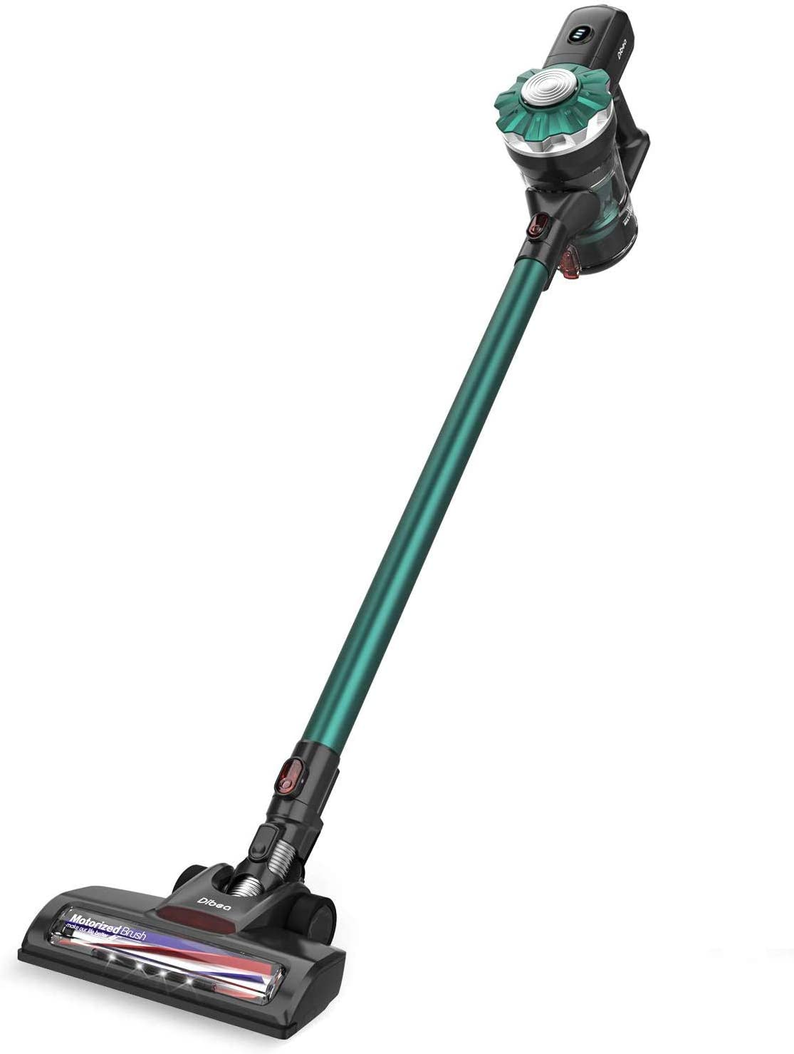 Dibea Cordless Vacuum Cleaner, 12KPa Powerful Suction Lightweight 2-in-1 Stick Handheld Vacuum with Rechargeable Lithium Ion Battery Perfect for Hardwood Floor,Carpet,Pet Hairs