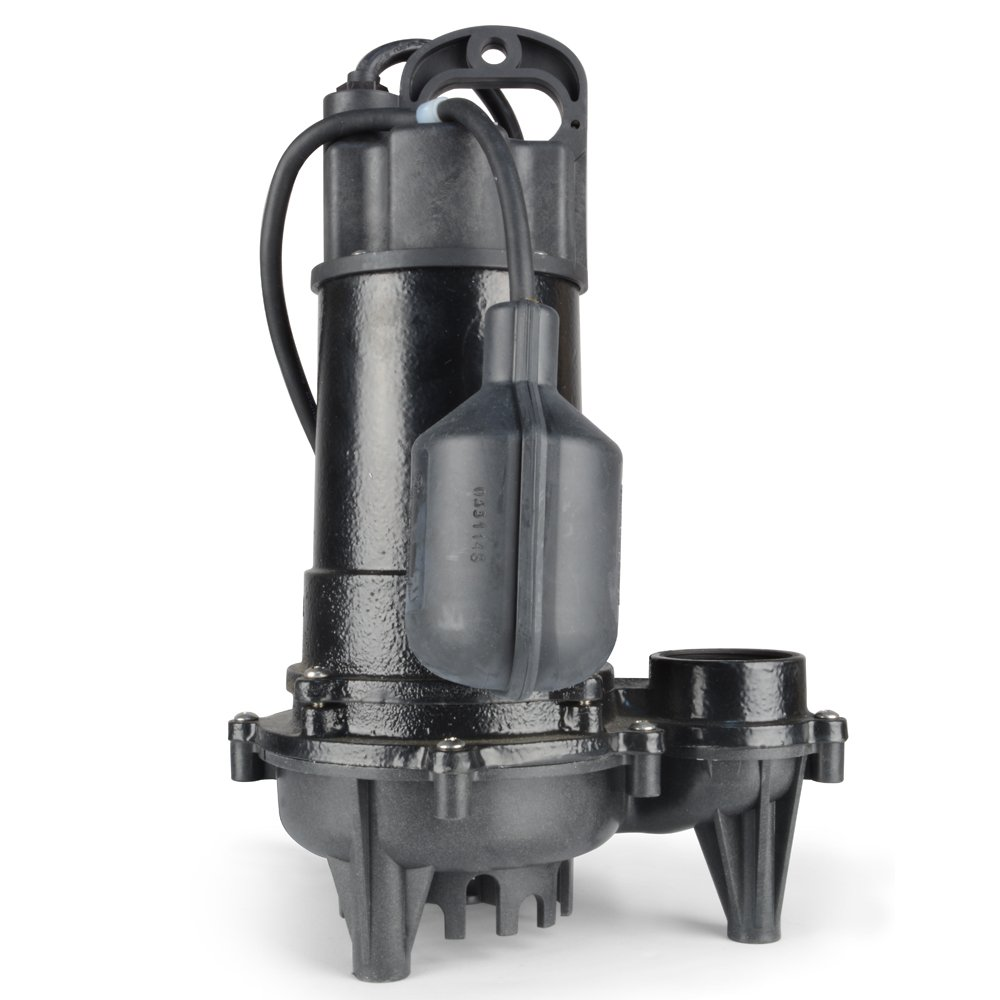 ECO-FLO Products ECD50W Cast Iron Sump Pump with Wide Angle Switch ...