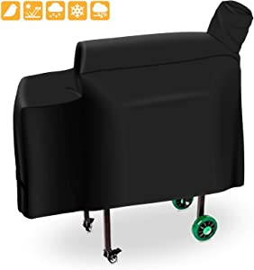 Grisun DB Grill Cover for Green Mountain Grills Daniel Boone Grill, Choice and Prime Standard Non-WiFi Grill, Heavy Duty and Waterproof Pellet Grill Cover (53.5 x 19.7 x 25 Inches)
