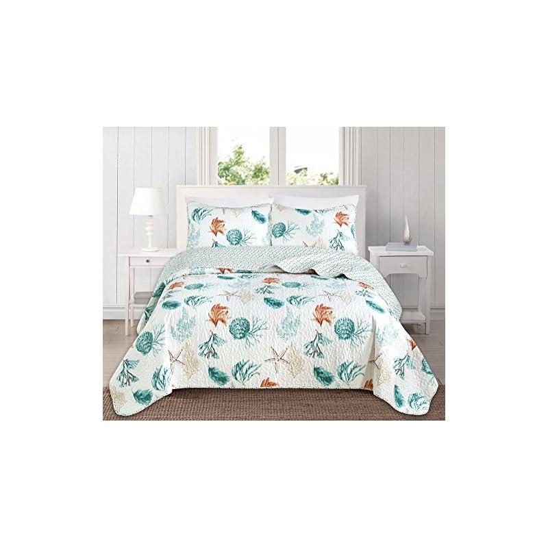 Briskly41 Colorful Summer Flip Flops Quilt Bedding Beach Room Decor King 100W x 90L inch