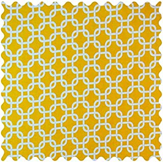 product image for SheetWorld Lemon Yellow Links Fabric - By The Yard
