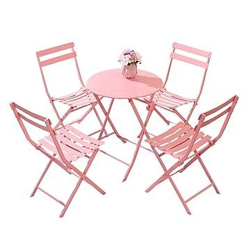 Mesa plegable Chunlan 4 sillas Plegables Camping Oficina al ...