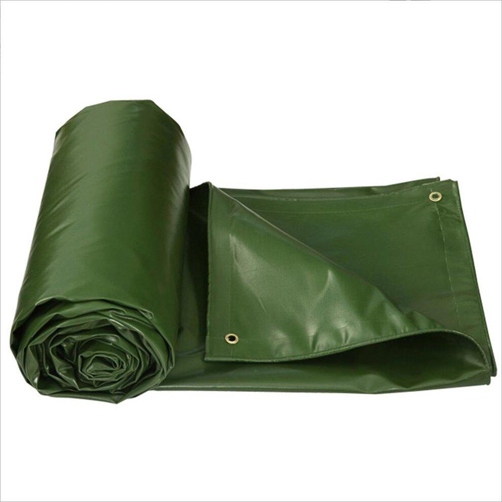 ZfgG Plane-starker wasserdichter grüner PVC-überzogener Plastikstoff 550g Sunscreen 0.6mm Schatten-Tuch im Freien Eine Vielzahl von Größen ist erhältlich