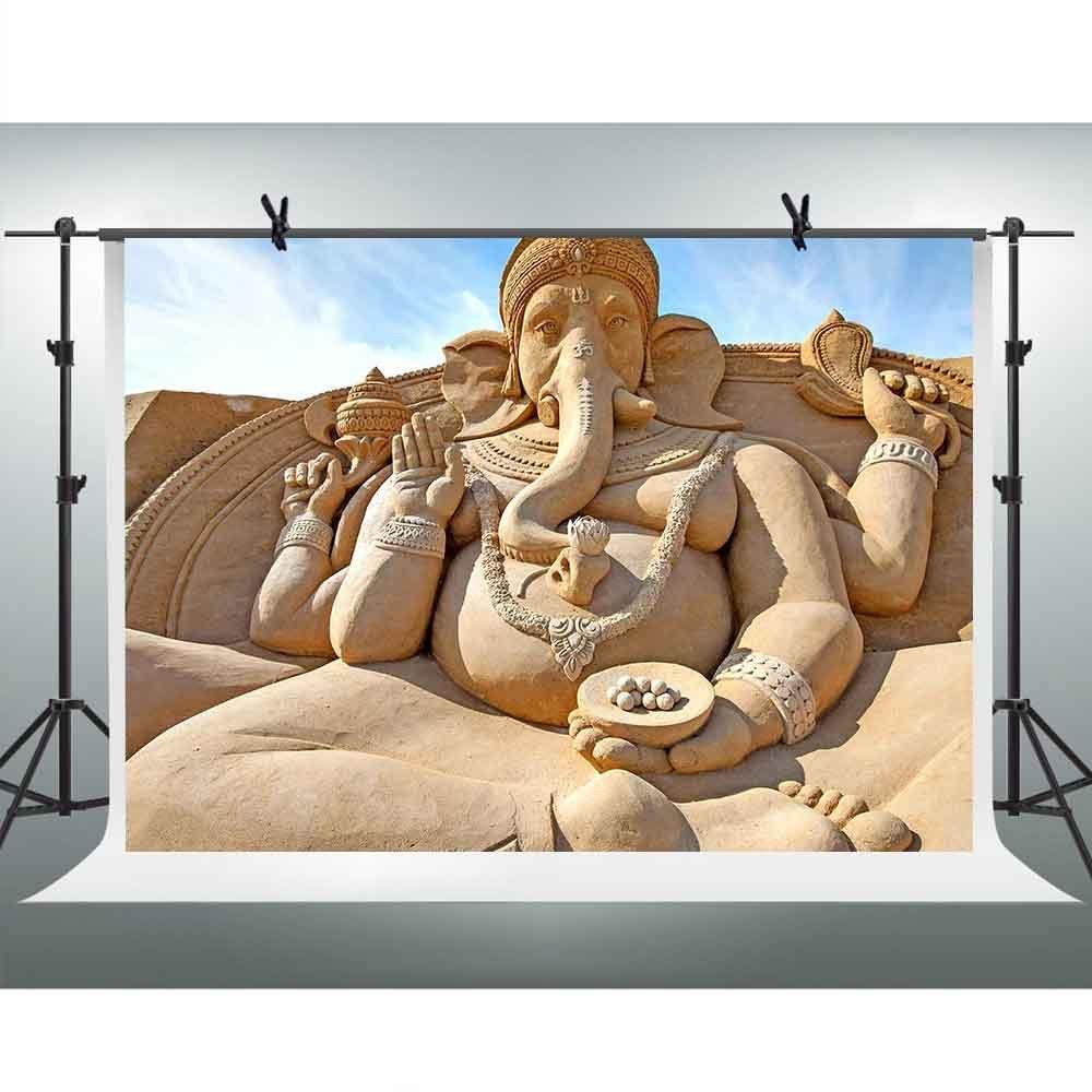 激安 FH 7ft 10 X 7ft Huge pfh005 Huge Statue Backdropガネーシャ象鼻ブルースカイ雲写真背景テーマパーティーYoutube背景写真ブース小道具Studio pfh005 B07CVQVL6G, 益子町:14c8b99a --- by.specpricep.ru