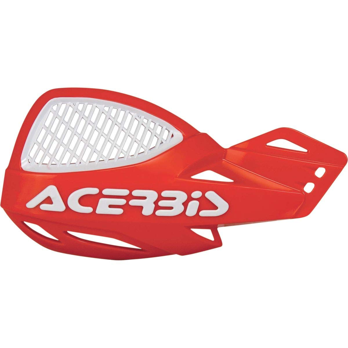 Acerbis Uniko MX Vented Handguards (RED/White) by Acerbis
