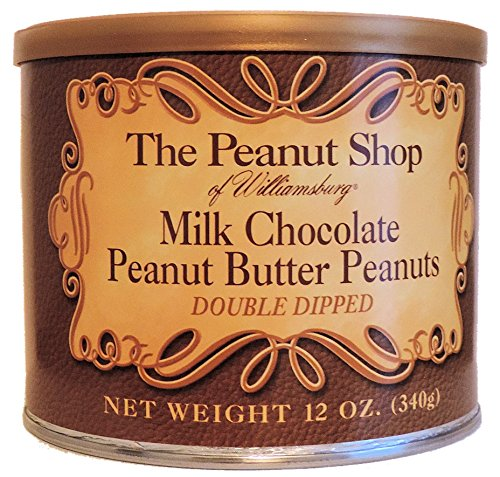 Chocolate Covered Peanut Butter (The Peanut Shop of Williamsburg Milk Chocolate Peanut Butter Virginia Peanuts - 12 Oz.)
