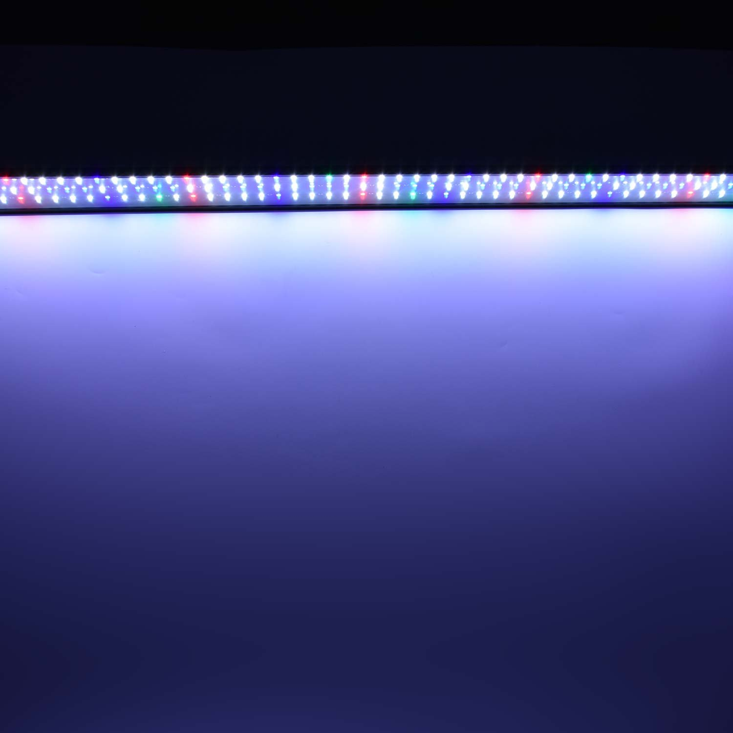 Super Bright LED Aquarium Light Fits Coral Fish Plant Saltwater Freshwater Aquariums in 36-47inch in Length 32W Full Spectrum Fish Tank Hood Lighting with Blue Green Red and White LEDs
