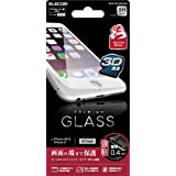 ELECOM iPhone 6s/6 液晶保護ガラスフィルム [3D touch ゴリラガラス0.4mm 最高硬度9H ラウンドエッジ加工] ホワイト  PM-A15FLGGFLWH