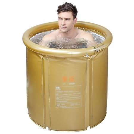 Bañera Hinchable Plegable, bañera portátil, Aislamiento más Grueso ...