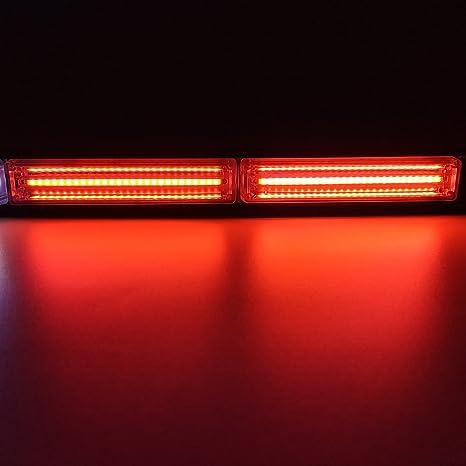 36W COB LED Emergency Warn Traffic Advisor Security Flash Strobe Light Red Blue