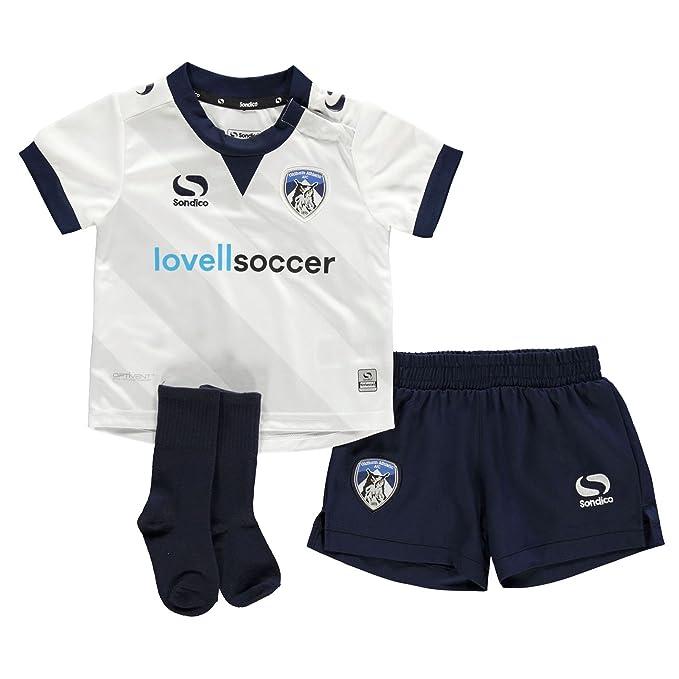 d5b0be5f3af Sondico Boys Oldham Athletic Away Baby Kit 2018 2019 White/Navy 18-24 Mnth:  Amazon.co.uk: Clothing