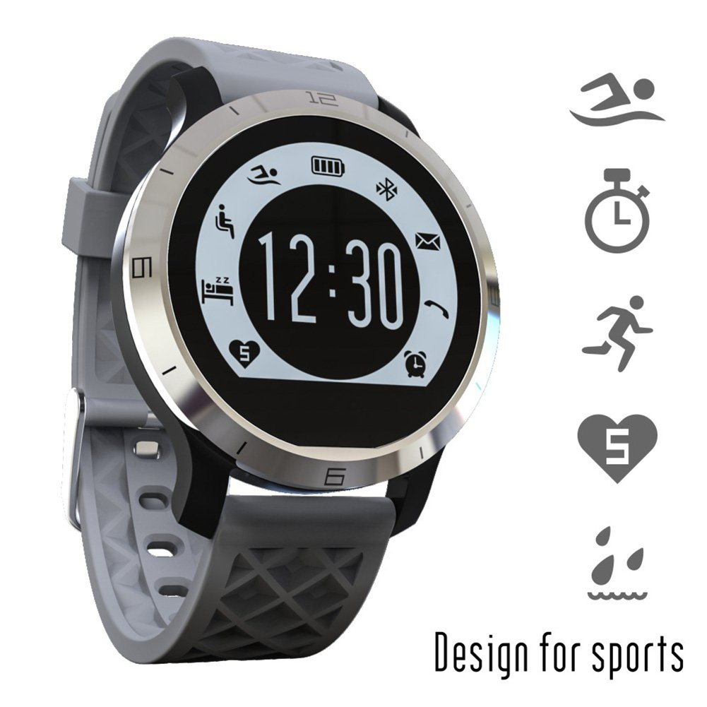 Smartwatch Demiawaking Reloj Inteligente F69 Deportes Smart Watch IP68 Cardíaca Fitness Tracker Monitor de Sueño Pedome