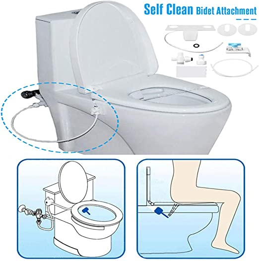 Amazon Com Tinfence Home Bidet Bidet Fresh Water Spray Non Electric Mechanical Self Cleaning Nozzles Fresh Water Spray Non Electric Mechanical Bidet Toilet Seat Attachment Reduce Toilet Paper Home Kitchen