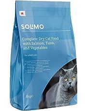 Marque Amazon - Solimo - Croquettes complètes pour chats adultes au saumon, thon et légumes, 1 Pack de 3kg