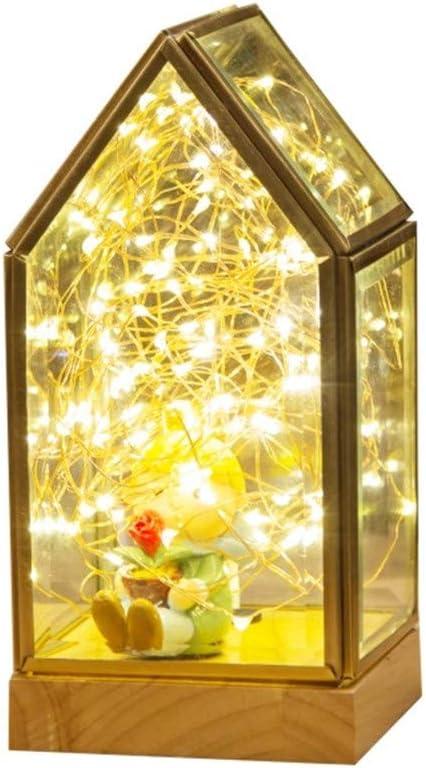 LED Beleuchtung Massivholz Nachtlicht, Feuer Baum Silber