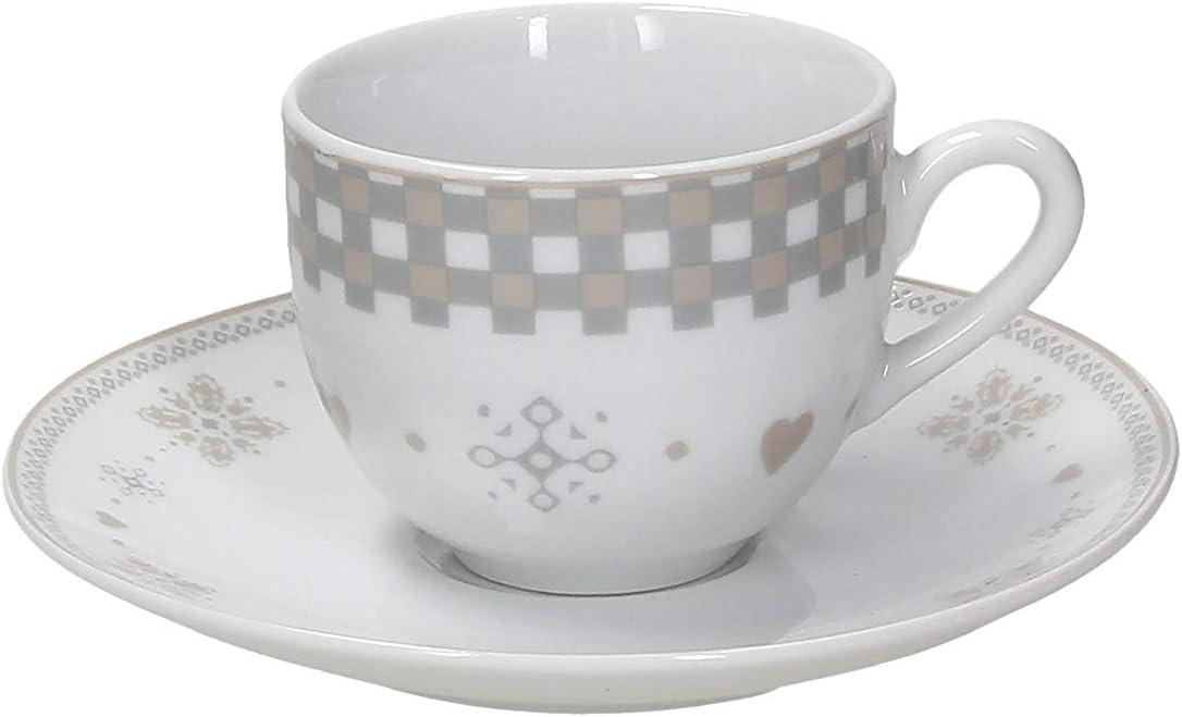 Tognana juego de 6/tazas de caf/é Vichy Beige Porcelana