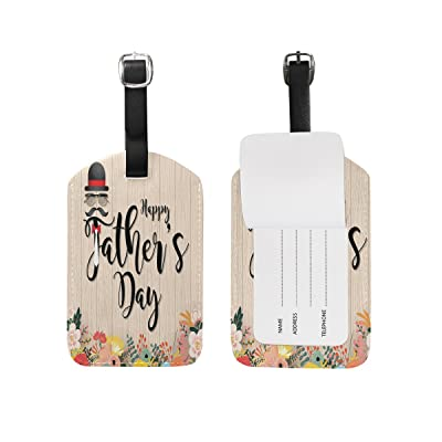 Saobao Travel Luggage Tag Typography On Wood PU Leather Baggage Suitcase Travel ID Bag Tag, 1Pcs