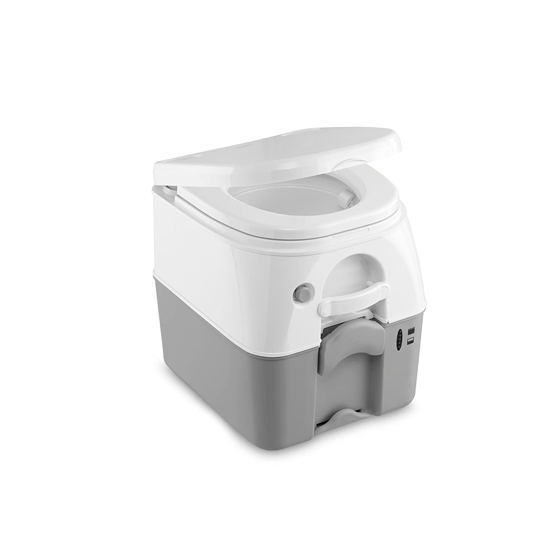 Dometic Portable 976 Camping-Toilette mit 360° Druckspülung I Abwassertank 18.9 Liter I Weiß/Grau Dometic WAECO International GmbH 9108557681