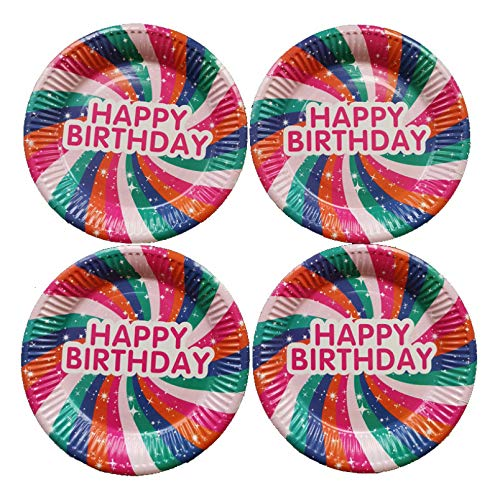 PRENKIN La Fiesta de cumpleaños 10pcs Material del Plato ...
