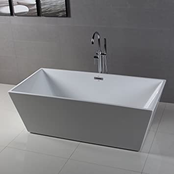 FerdY 67u0026quot; X 32u0026quot; Bathroom Freestanding Acrylic Soaking Bathtub,  Contemporary Style,cUPC