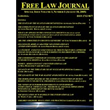 Free Law Journal Special Issue Volume 1 Number 1: ISSN 1712-9877X