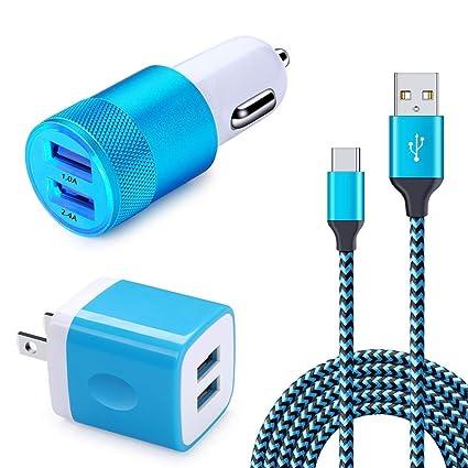 Amazon.com: HUTA - Cargador de coche con doble USB y cable ...