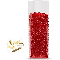 Elke-Plastic OPP kruisbodemzakken 30 mµ met 100 clips I 115 x 190 I 100 stuks I bodemzakken transparant I doorzichtige…