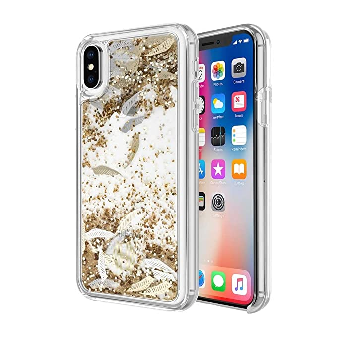 detailing 9d268 f86d9 Amazon.com: House of Harlow 1960 Liquid Glitter Case for iPhone X ...