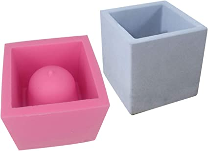 molde de silicona para plantas suculentas molde para decoraci/ón de jard/ín manualidades Molde de silicona para macetas cubo de 12 cm resina epoxi