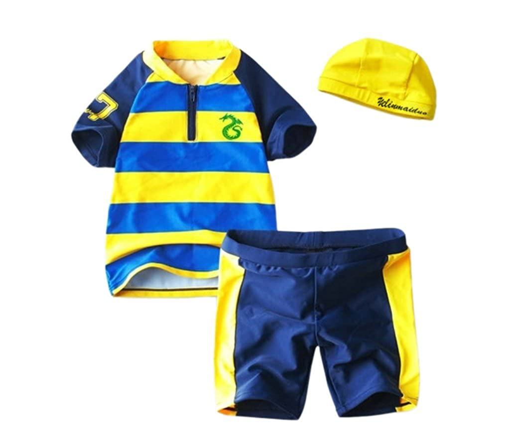 Baby Boys Sun Protection Swimwear 3-pieces Boys Swimsuit Sets Three Babies_185