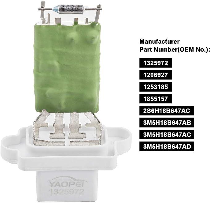 YAOPEI 1325972 - Resistencia del Ventilador del Motor del Soplador ...