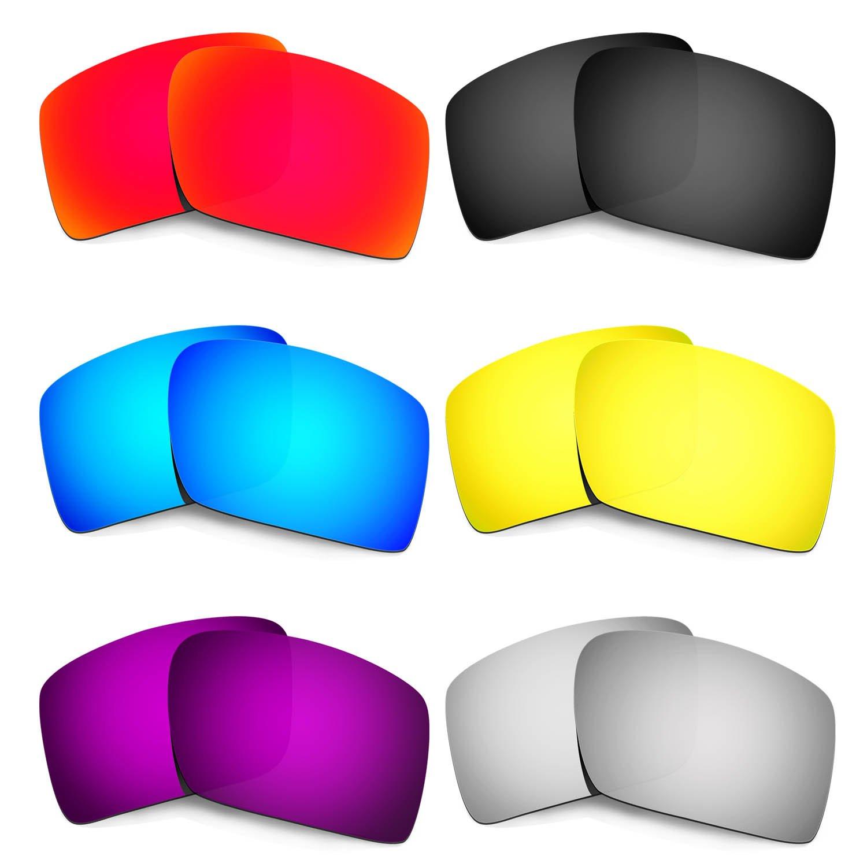 Hkuco 交換用レンズ For Oakley Eyepatch 2 サングラス  レッド/ブルー/ブラック/ゴールデン/チタンカラー/パープル B073FG7BW2