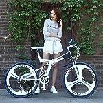 GASLIKE-Mountain-Bike-Pieghevole-per-Uomini-e-Donne-Adulti-Bicicletta-da-Montagna-con-Telaio-a-Doppia-Sospensione-in-Acciaio-ad-Alto-tenore-di-Carbonio-Ruote-in-Lega-di-magnesio