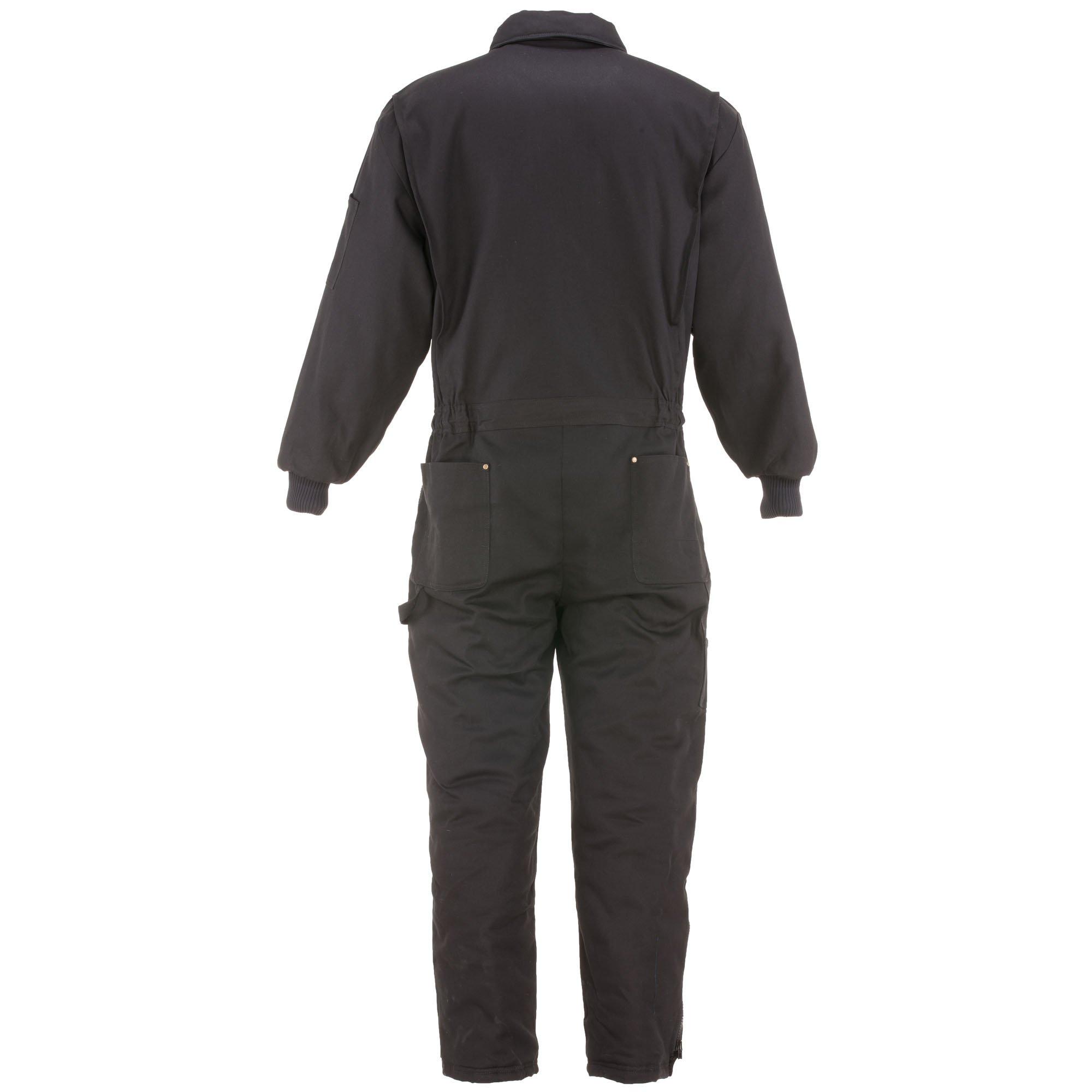 RefrigiWear Men's Water-Resistant Insulated Denim Comfortguard Coveralls (Black, XL) by RefrigiWear (Image #2)