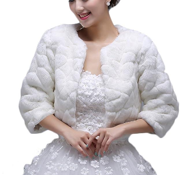 bettertime piel sintética de las mujeres de la boda fiesta chales bandas para abrigos chaquetas de invierno: Amazon.es: Ropa y accesorios
