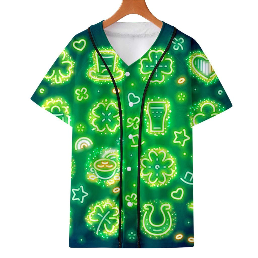 Patricks Day Shirt Womens /& Men Shenanigans Funny Four-Leaf Clover Green Blouses /& Tops for Unisex-Adult 2019 st
