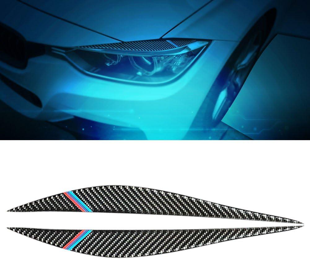 Headlight Eyelids Trim Eyebrow Stickers Type-A Carbon Fiber Headlamp Eyebrow Cover Decoration Styling Sticker for BMW 3 Series 303i 325i 316i