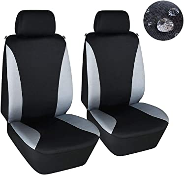 WATER RESISTANT FRONT /& REAR COVERS NEW BLACK UNIVERSAL FIT CAR SEAT COVER SET
